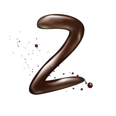 buchstabe z: 3d fl�ssige Schokolade Buchstabe Z isoliert auf wei�em Hintergrund