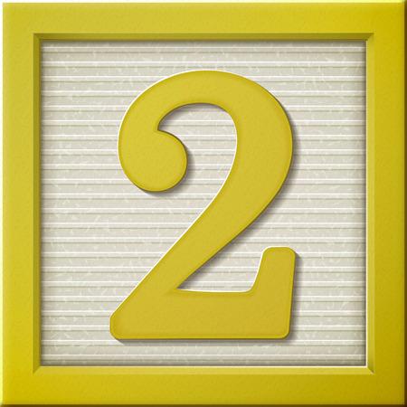 yellow block: close up look at 3d yellow number block 2