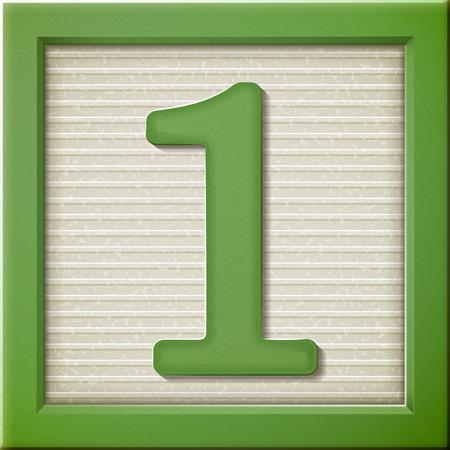 close up look at 3d green number block 1