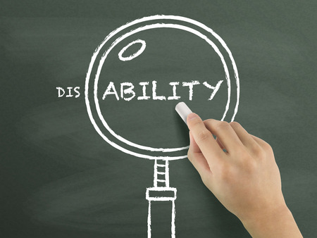 ability: find out ability with magnifying glass drawn by hand over chalkboard