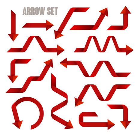 useful: useful red arrows set collection over white background