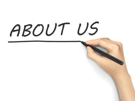 Qui sommes-nous les mots écrits à la main sur fond blanc Banque d'images - 39044755
