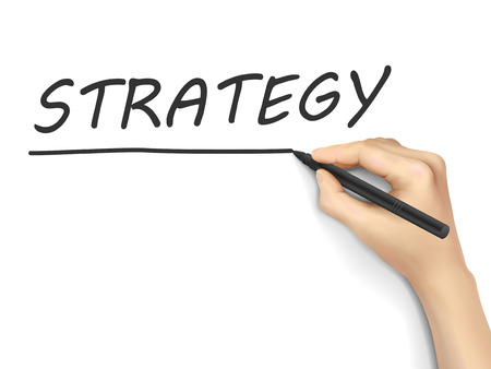 method: strategy concept written by hand on white background