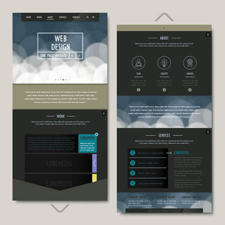 the simplicity: simplicity one page website template design with abstract background