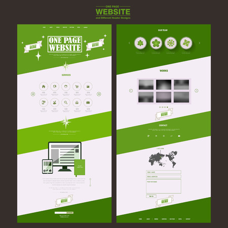 the simplicity: simplicity one page website template design in green and white