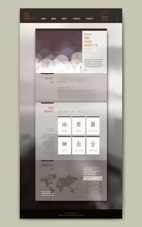 simplicity: simplicity one page website template design with abstract background