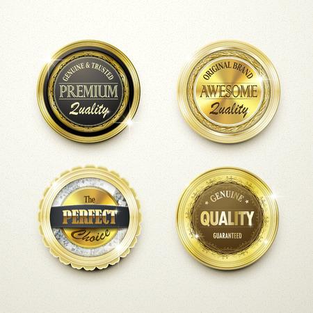 golden texture: premium quality gorgeous golden labels collection over beige