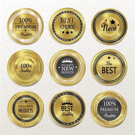 プレミアム品質はベージュにゴールド ラベル コレクションをラウンドします。