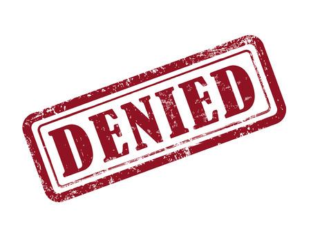 denied: sello neg� en rojo sobre fondo blanco