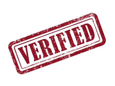 verified: stamp verified in red over white background