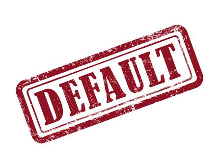 stamp default in red over white background Illustration