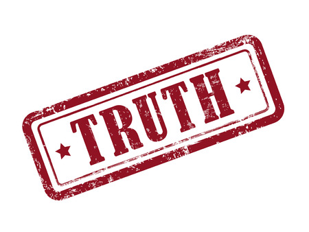 truthful: stamp truth in red over white background