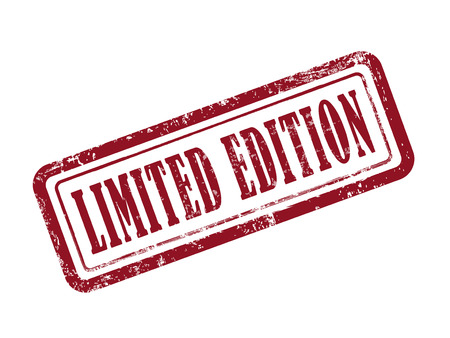 edition: stamp limited edition in red over white background Illustration