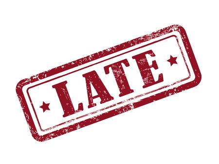 payable: sello tarde en rojo sobre fondo blanco