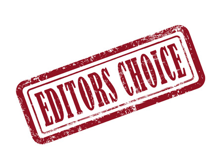 stamp editors choice in red over white background Vector