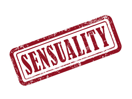 sensuality: stamp sensuality in red over white background Illustration