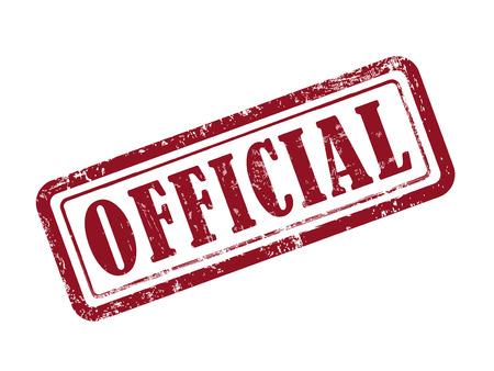 Oficial de sello en rojo sobre fondo blanco Foto de archivo - 39928888