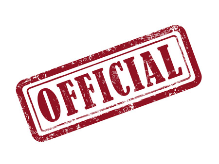 Poinçon officiel en rouge sur fond blanc Banque d'images - 39928888