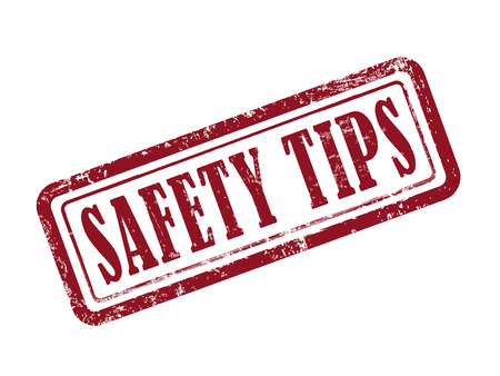 白地に赤でスタンプの安全性のヒント