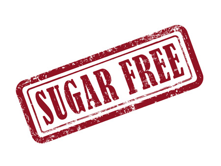 stamp sugar free in red over white background Vector