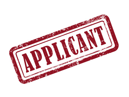 an applicant: stamp applicant in red over white background Illustration