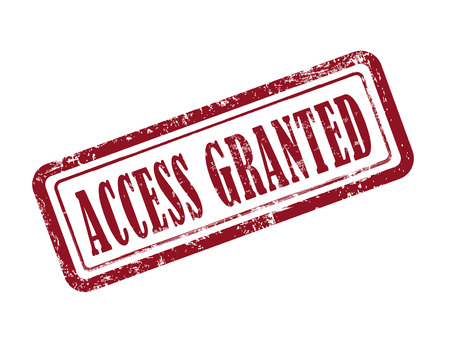 access granted: stamp access granted in red over white background Illustration