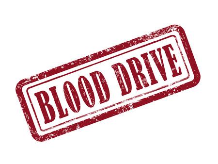 stempel bloed rijden in het rood op een witte achtergrond