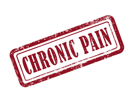 stamp chronic pain in red over white background