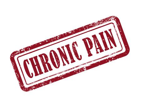 stempel chronische pijn in het rood op een witte achtergrond