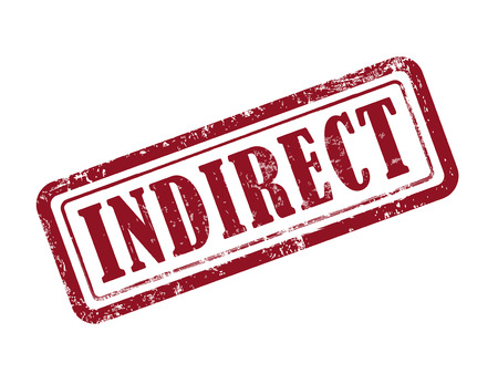 implicit: stamp indirect in red over white background