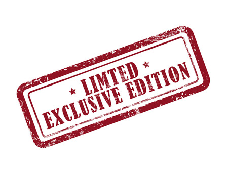 stamp limited: exclusive edition in red over white background
