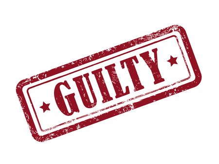 offense: stamp guilty in red over white background