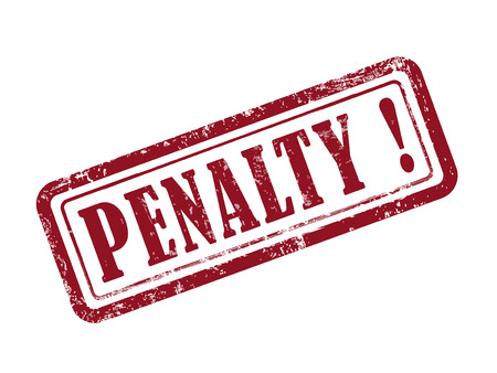 stamp penalty in red over white background
