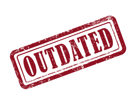 the outdated: stamp outdated in red over white background