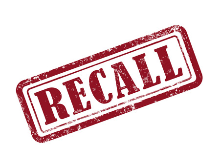 recall: stamp recall in red over white background