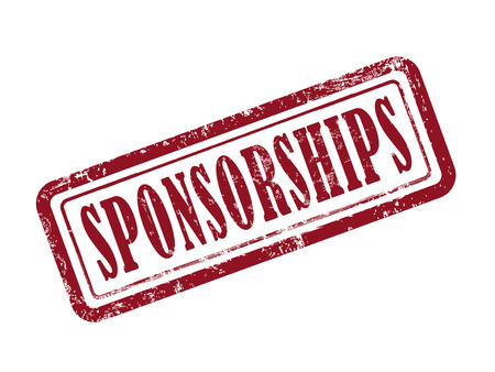 sponsorship: stamp sponsorships in red over white background