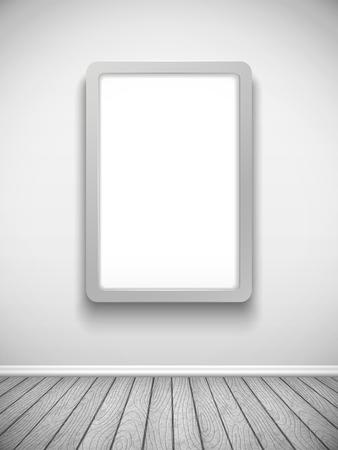 advertising billboard: blank advertising billboard hanging on the wall