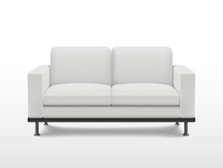 graceful blank sofa isolated on white background