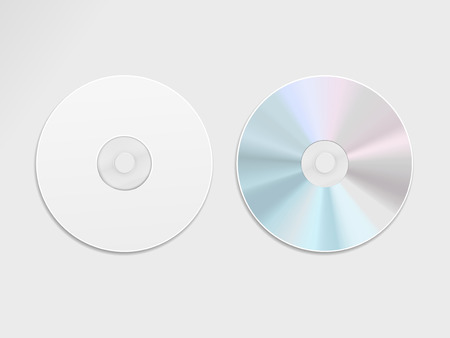 blu: blue-ray CD or DVD isolated on grey background