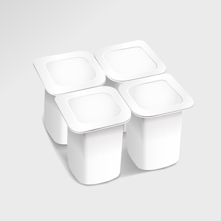plastic container: food plastic container isolated on grey background