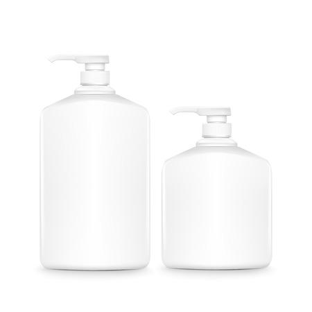 shampoo bottles: blank shampoo bottles set isolated on white background