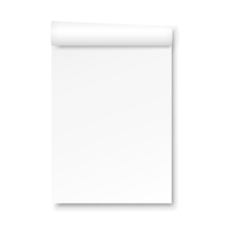 blank Paper tablet isolated on white background