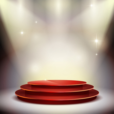 gorgeous performance platform isolated on illuminated background