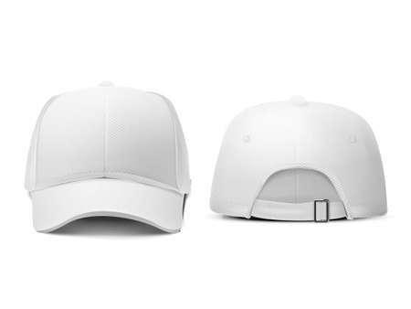 back of head: blank hat in white isolated on white background Illustration