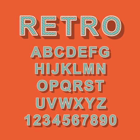 retro font: