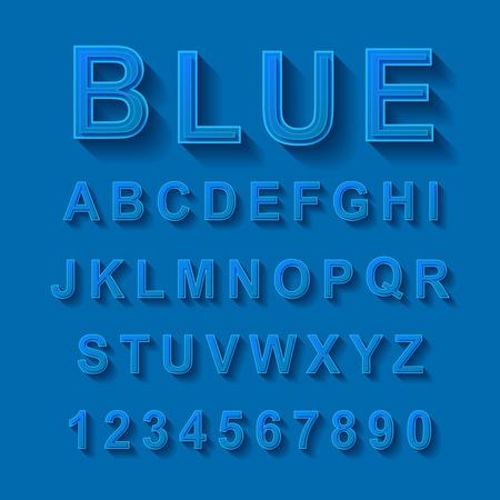 blue font design set over blue background