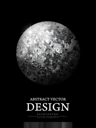 gorgeous: gorgeous glitter diamond ball isolated on black background