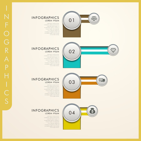 simplicity: simplicity attractive infographic elements design with circles Illustration