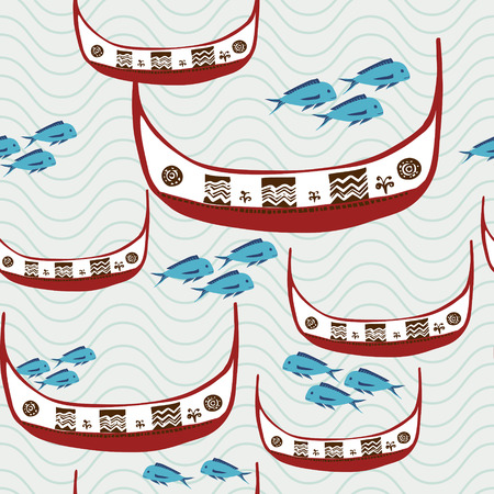aborigines: flying fish festival concept: traditional fishing boat of Taiwan aborigines - Tao