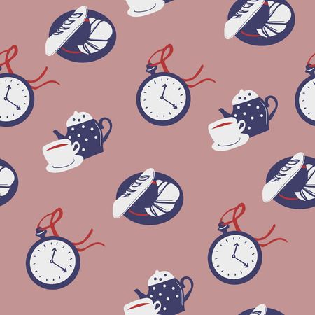 eat me: lovely colorful afternoon tea concept seamless background